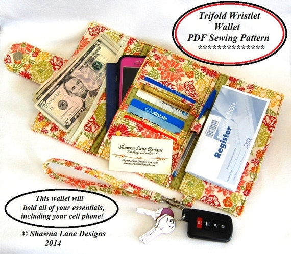 Womens Wallet Sewing Pattern Pdf Pattern Cell Phone Wallet