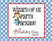 Wizard of Oz Party - Complete Party Package for the Ultimate Wizard of Oz Party by The Birthday House
