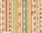 The Midway - Digital Scrapbooking Papers   -   23 Brightly Designed Papers - 12 x 12 Inches  -  INSTANT DOWNLOAD -3.25