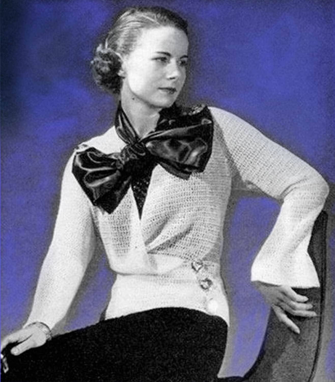 Knitting Pattern Evening Jacket : Stunning Knitted Evening Jacket and Gown Knitting Pattern