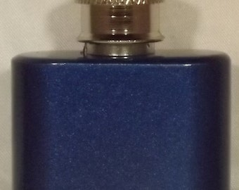 1 oz Metallic Blue Stainless Steel Shooter Flask Necklace Pendant Plus FREE Flask Funnel, and In-Country Shipping