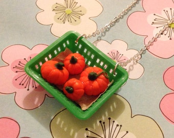 Punnet Of Pumpkins Necklace