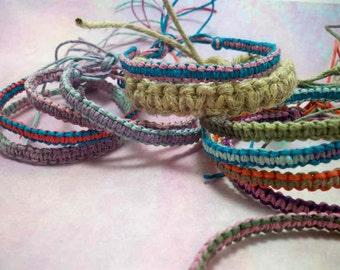 Macrame Hemp Friendship Bracelets