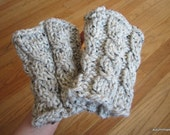 RESERVED ITEM for T. [cable-knit boot cuffs]