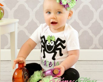 Girls Spider Shirt ~ Itsy Bitsy Spider Shirt ~ Halloween Spider Shirt ~ Girls Fall Shirt ~ Halloween Outfit ~ Baby First Halloween Shirt