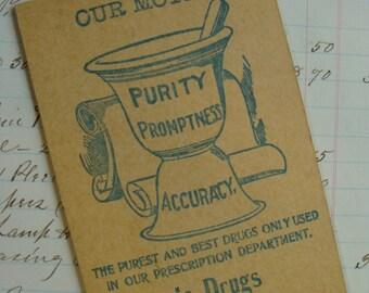 Antique Medical Druggist Ledger Pad Unused