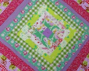 New Baby Girl Patchwork Quilt Blanket Nursery Decor Gift