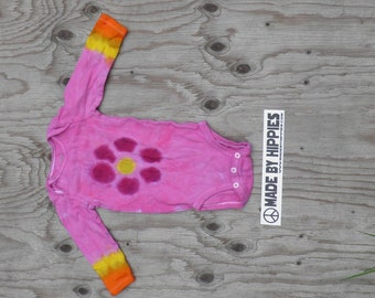 Purple Tie Dye Flower Pink Onesie (Child of Mine Size 6 - 12 Months) (One of a Kind)