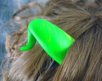 Green with Yellow Devil Horns Costume Accessory