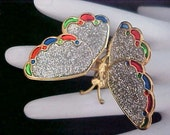 Incredible Whimsical Tremblant Butterfly Brooch