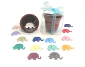 Elephant Baby Shower Favors Personalized for Girls or Boys - Plantable Seed Paper Elephants in pink, blue, or unisex colors by Nature Favors