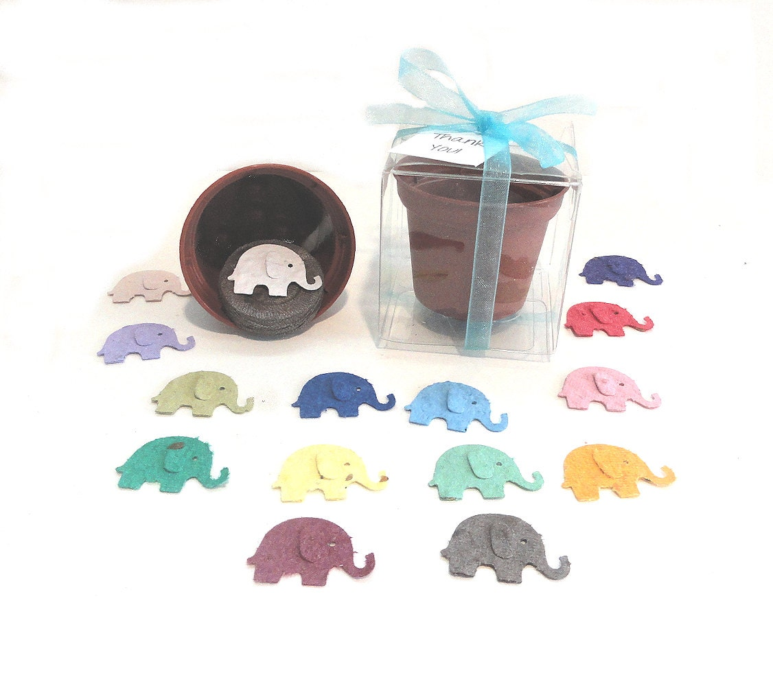 elephant baby shower favors personalized for girls or boys