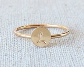 Personalized Bridesmaids Gift | Initial Ring | Stackable Rings [Letra Ring]