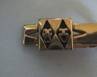 Rare 50s COMEDY And TRAGEDY Tie Clip 1950s Dapper Must See SWANK