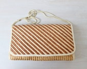 Woven Straw Purse / Clutch  / Straw Handbag / Beachy