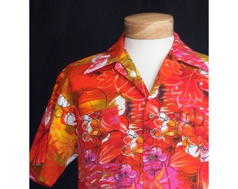 Vintage 50s The Big Island Mens Shirt