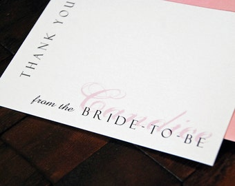 Bride to Be Design - Personalized Note Cards