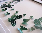 INVENTORY CLEARANCE Northern Lights, Aurora Borealis Upcycled 3D Butterfly Art. Recycled Calendar. Paper Butterfly Art. 8x10