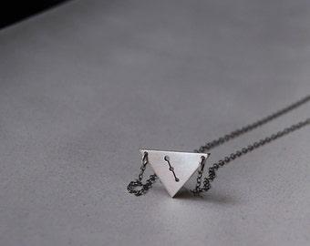 Mini Mini Secrets of the Pyramids Necklace- Custom Constellation and Zodiac Design or personalized initials