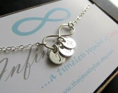 Dainty Personalized Infinity necklace, Infinity initial necklace, personalized jewelry