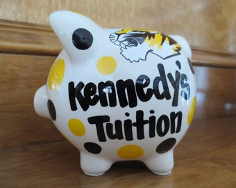 Mini-Personalized Sports Piggy Bank- Tuition Fund
