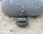 Three Beach Rock Cairn Pendant
