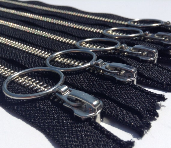Metal Zippers- 12 inch closed