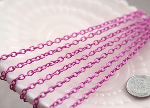 5mm Pink Enamel Chain - 10 feet / 3 meters