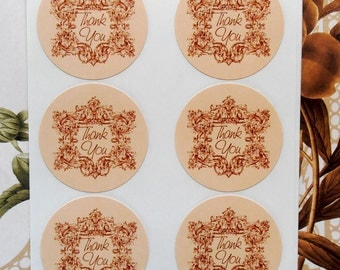 Stickers Thank You Envelope Seals Wedding Party Favor Treat Bag Sticker SP023