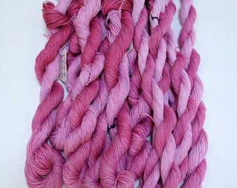 Pinks, Hand Dyed Tatting Thread in Size 40
