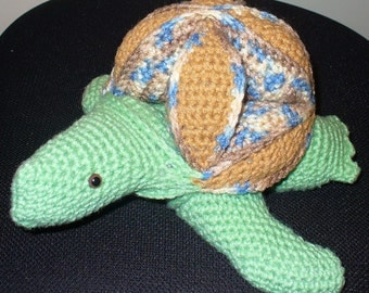 Turtle Puzzle Ball With Safety Eyes - ready to ship - Crocheted