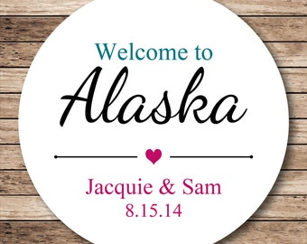 Personalized Welcome Stickers or Tags