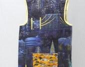 Art Smock Apron - New York, New York Wipe Clean Vinyl Apron - Fits Size 2T-4T