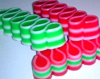Ribbon Candy Christmas Holiday Soap - Winter - Christmas - Candy - You Choose Color/Scent - Stocking Stuffer