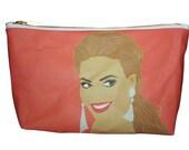 BEYONCE  makeup bag lil' purse... original drawing