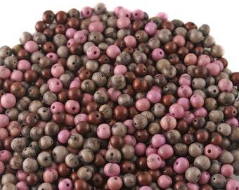 Sugar Plum Acai Beads, 100 Beads / Natural Eco Friendly Beads from the Amazon, Boho Beads, Yoga, Renewable Seeds / Pink, Purple, Mauve