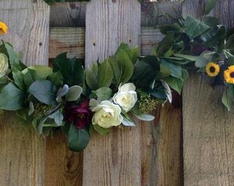 Wedding Flower Garland Elegant Summer or Autumn Wedding