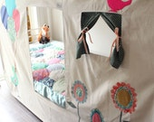 Bunk Bed Tent - bird and balloons.