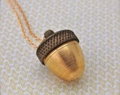 Acorn Canister Locket Ashes Necklace Jewelry Mourning Locket Cremation Gift Jewellery Pill Container