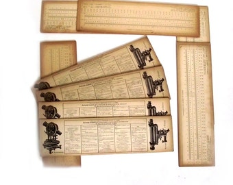 Lot of 9 Vintage French Conversion Cards for Collage Epsteam