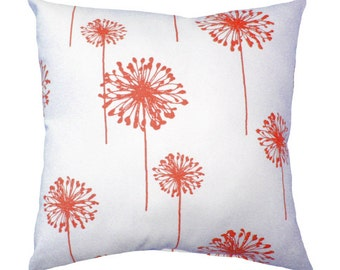 Premier Prints Dandelion Coral and White Decorative Throw Pillow Free Shipping