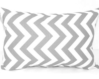 CLEARANCE - Premier Prints Zig Zag Storm Gray and White Chevron Decorative Throw Pillow - Free Shipping