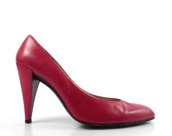 Charles Jourdan Heels Vintage 1980s RedHeels size Women's size 7 1/2