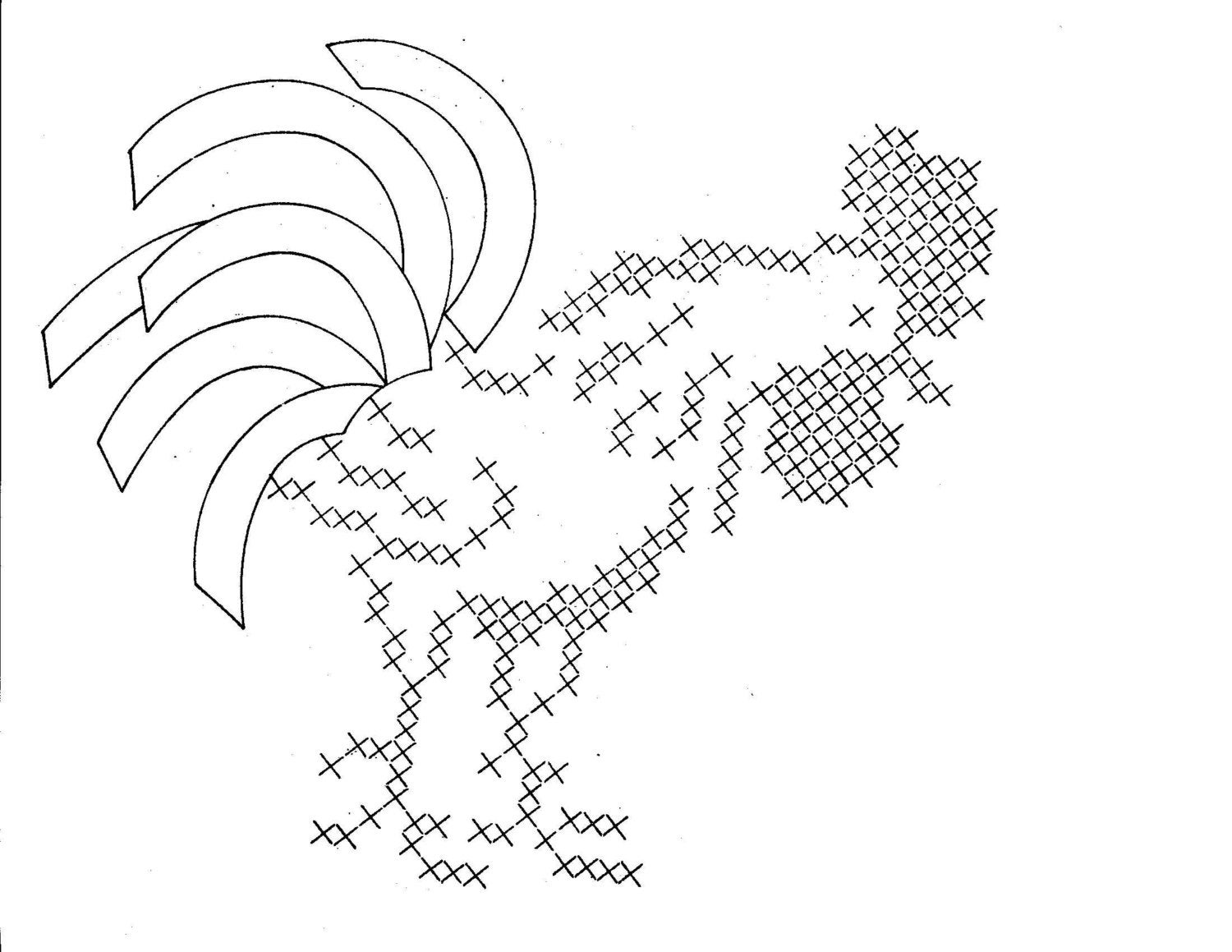 free hand embroidery rooster patterns printable letter stencils z