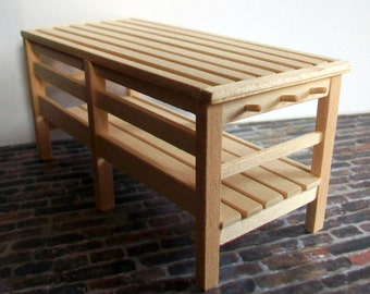 Miniature Bench / Side Table   1:12 scale