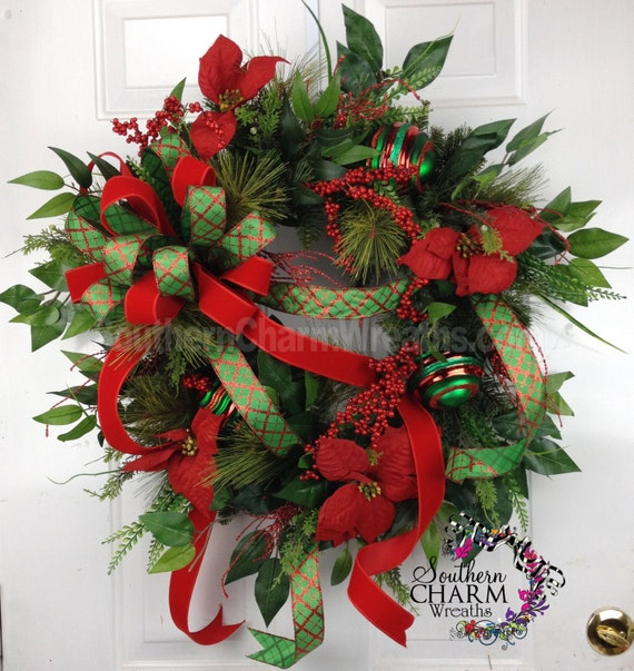Christmas Wreaths For Double Front Doors: Unavailable Listing On Etsy