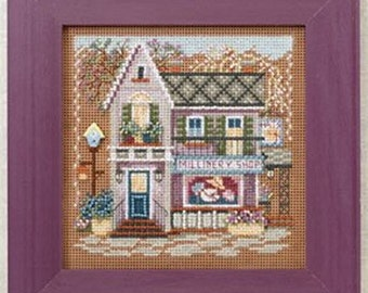MILL HILL Buttons & Beads KIT - Spring Series Main Street - Millinery Shoppe - Counted Cross Stitch Kit