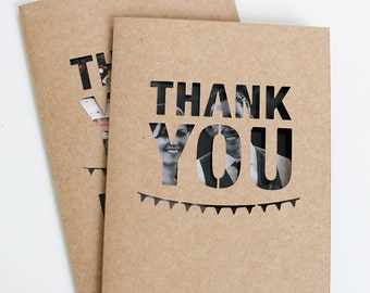 Thank you cards with envelopes set of 2