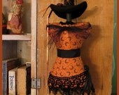 PRIMITIVE FOLK ART Witch Mannequin Doll