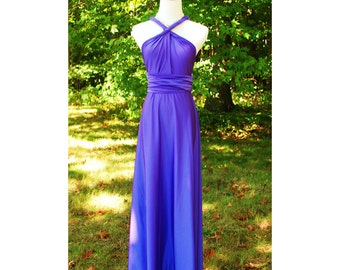USA, PURPLE dresses, Convertible dress, Infinity dress